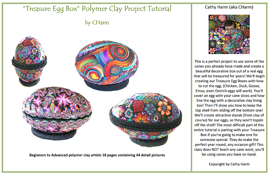 Treasured Egg Box Polymer Clay